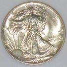 1943 Lustrous Gem MS 65 NGC Certified Walking Liberty Silver Half Dollar