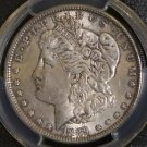 1889 Top 100 VAM 19A PCGS AU 58 Bar Wing Doubled Reverse Morgan Silver Dollar