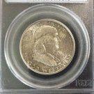 1949 MS 66 Toned Full Bell Line PCGS Certified Franklin Silver Half Dollar