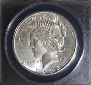 1926 S MS 64 Peace Silver Dollar