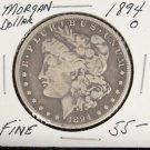 1894 0 Fine Semi Key Date Morgan Silver Dollar