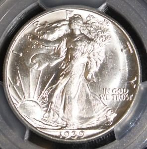 1939 D PCGS MS 64 Double Die Obverse Rare FS 101 Walking Liberty Half Dollar