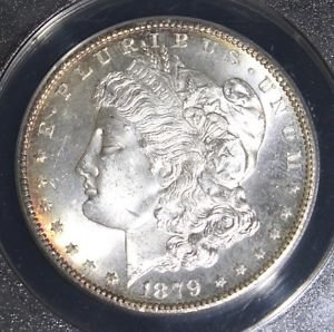 1879 S Graded MS 65 Frosted Morgan Silver Dollar