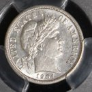 1904 PCGS Almost Uncirculated Brilliant AU 53 Barber Dime