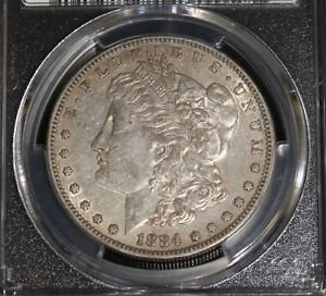 1884 S Key Date PCGS AU 50 Almost Uncirculated Morgan Silver Dollar