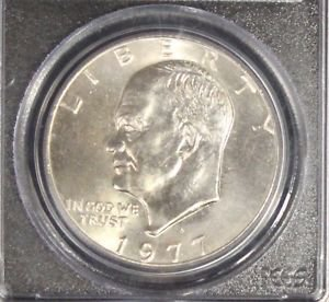 1977 D PCGS Gem brilliant MS 65 Eisenhower Dollar