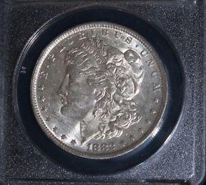 1882 O over S VAM 4 Top 100 Recessed S AU 58 Morgan Silver Dollar