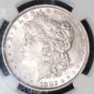 1882 O/S Strong AU 58 VAM 4 Recessed S Top 100 NGC Graded Morgan Silver Dollar