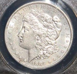 1884 S AU 50 Almost Uncirculated Scarce Key Date Brilliant Morgan Silver Dollar