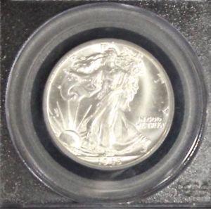 1945 D PCGS Gem Brilliant White MS 65 Walking Liberty Silver Half Dollar