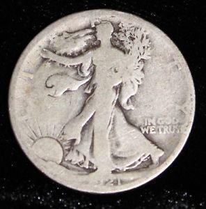 1921 S Key Date Walking Liberty Half Dollar