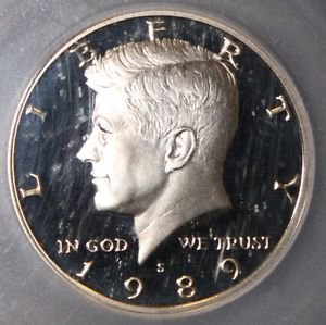 1989 S Proof 70 Flawless Deep Mirror Proof Cameo Kennedy Half Dollar