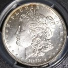 1878 VAM 33A 7 over 8 7/4 Tail Feather Clashed Obverse PCGS MS 64 Morgan Dollar