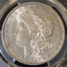 1883 O Hot 50 PCGS AU 53 VAM 22A Partial E W/Clash Reverse Morgan Silver Dollar