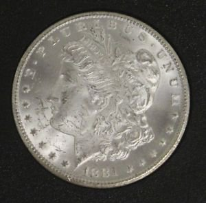 1881 CC MS 63 Carson City GSA NGC Graded Brilliant Frosted Morgan Silver Dollar