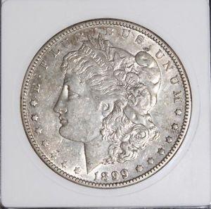 1899 O AU 50 Micro O Vam 5 Line in Wings Top 100 Morgan Silver Dollar-Ultra Rare