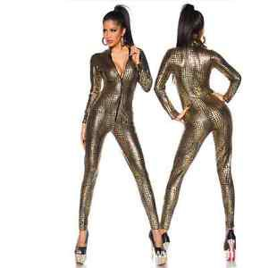 Women Catsuit | Sexy Bodysuit | Cosplay Latex Costume | Wetlook Snakeskin