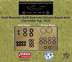 94-02 Mercedes SL500 Hydraulic Cylinder Rod & Piston Seals Convertible Top R129