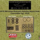 89-02 Mercedes Hydraulic Cylinder Rod & Piston Repair Seals Convertible Top R129