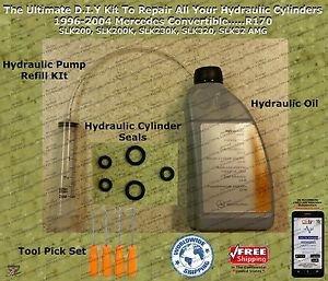 96-04 Mercedes SLK 230 Convertible Hydraulic Cylinder Repair Kit & More...R170