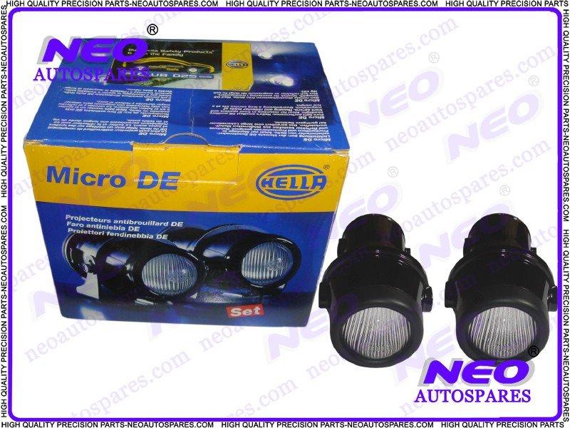 Hella Micro De Foglight Brand New Set Fog Lamp Lights INCL. Mounting Brackets