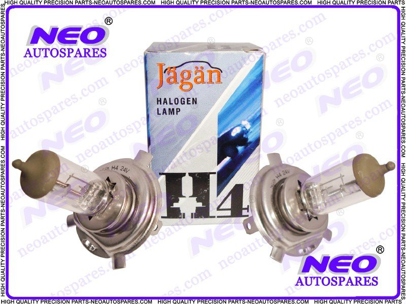 1PR H4 Car Super Bright Off-Road P43T Long Life Halogen Lamp Bulb HQ 24V 100/90W