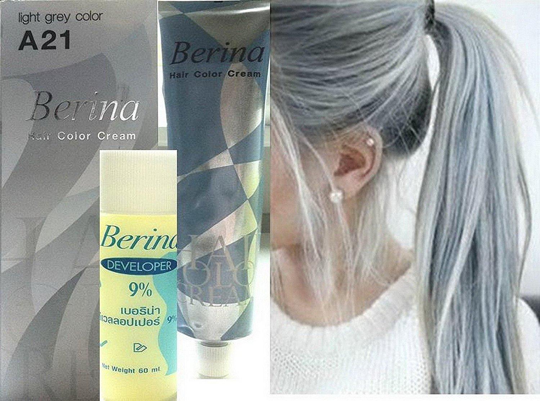 Hair Colour Permanent Hair Cream Dye Light Ash Grey