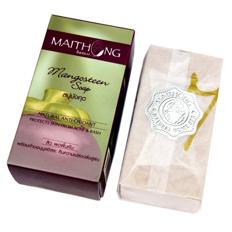 Mangosteen Soap Face and Body Wash Acne Rash Black Spot Spa Facial Soap Bar Natural Herb Scent