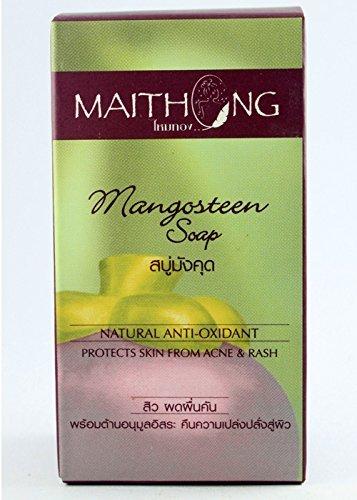 Maithong Soap Bar Face Body Herbal Asian Spa Skin Natural Acne Soup Mangosteen