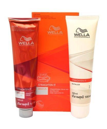 Wella Wellastrate Straight System Mild Professional Hair Straightener 100ml + 100ml Neutralizer