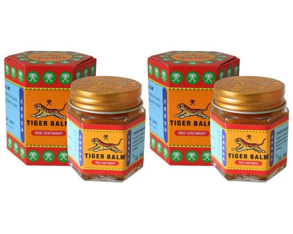 2 Jars of Tiger Balm Red Ointment 30g/Jar (Large Jar!)