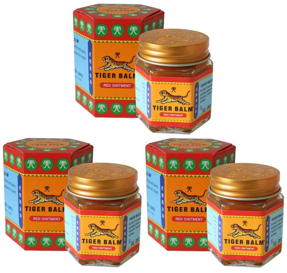3 Jars of Tiger Balm Red Ointment 30g/Jar (Large Jar!)