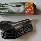 Chinese Soup Spoons ,stainless steel (pack of 12 plus 1 free)