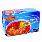 Thai Instant Noodles Minced Pork Tom Yum Flavor 10 x 60g Pack - Wai Wai Brand