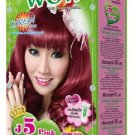 Just Modern Colourful WOW Hair Color Permanent Hair Cream Dye Pink J5..