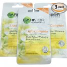 Garnier Skin Naturals Light Lightening Peel-Off Mask 3 Pack