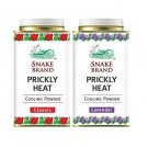Snake Brand Prickly Heat Cooling Powder Twin Pack Classic and Lavender Fragrance (2 x 150g) by Snake