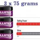 3 x 75 g = 225 g GATSBY WAX HAIR STYLING ULTIMATE & SHAGGY GEL JAPAN STYLE