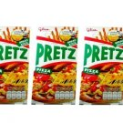 3 Packets Thai Food Snacks Glico Brand PRETZ FLAVOUR PIZZA BREAD STICK 50 g
