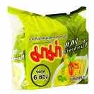 Mama Instant Noodles Chicken Green Curry Flavor 60g x 6. -Thai Snack