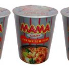 Mama Cup Shrimp Tom Yum Flavored Instant Noodles 60g x 3 Pieces