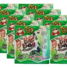 10 X Packs Crispy Seaweed Original Flavour 6 x 4g Sealed Sheets Tao Kae Noi Brand- Thai Snack