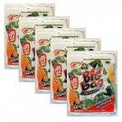5 x Packs Crispy Seaweed Grilled Squid Flavour Tao Kae Noi Brand- Thai Snack
