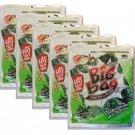 5 x Packs Crispy Seaweed Original Flavour Tao Kae Noi Brand- Thai Snack