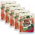 5 x Packs Crispy Seaweed Spicy Flavour Tao Kae Noi Brand - Thai Snack
