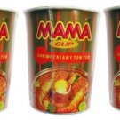Mama Cup Shrimp Creamy Tom Yum Flavored Instant Noodles 60g x 3 Pieces - Thai Snack.
