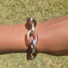 Brown, Silver, Gold Chain Bracelet