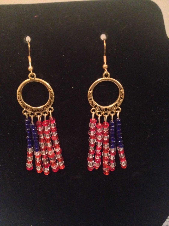 Red, White, Blue Flag Earrings