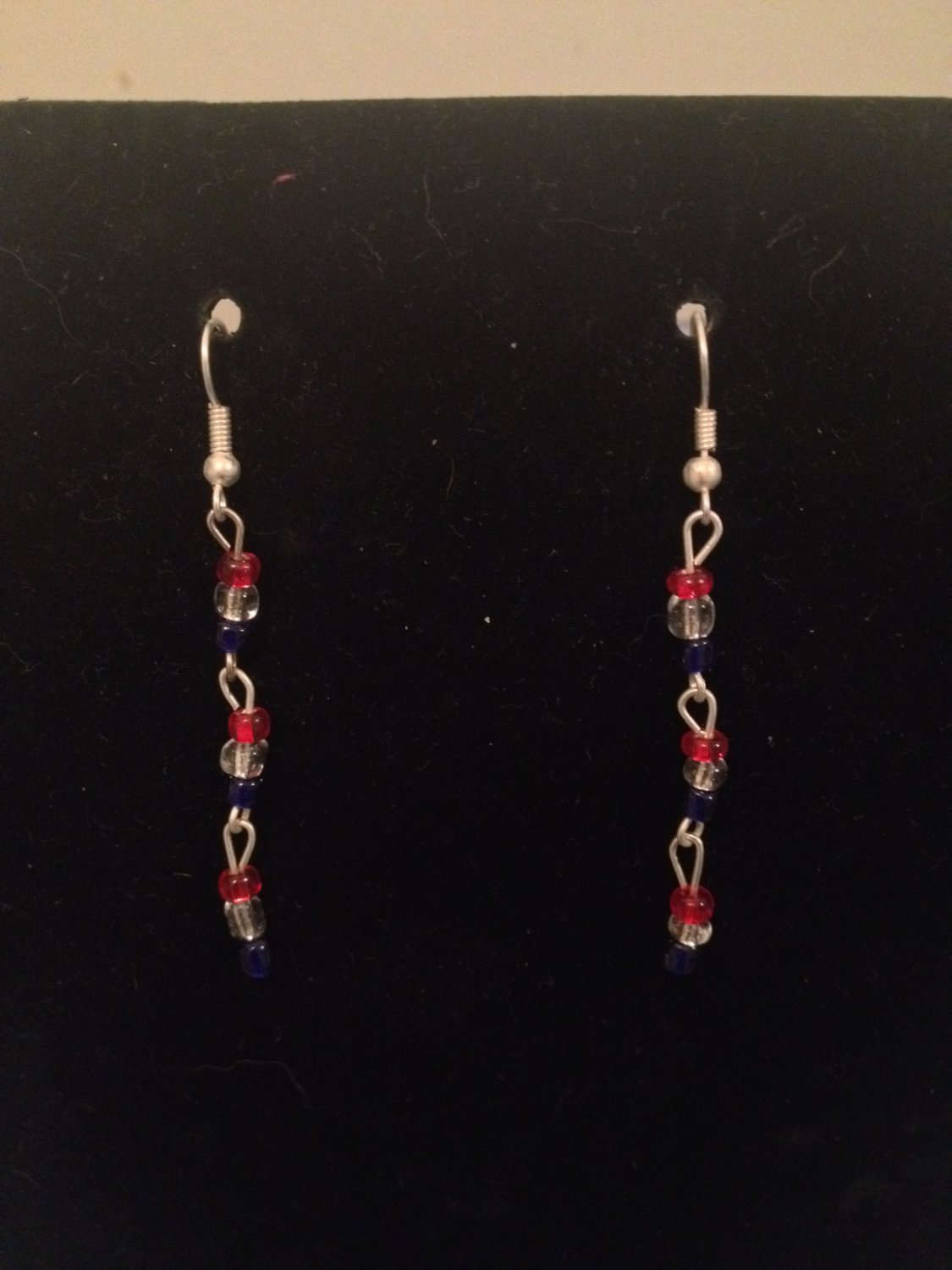 Red, White, Blue Earrings