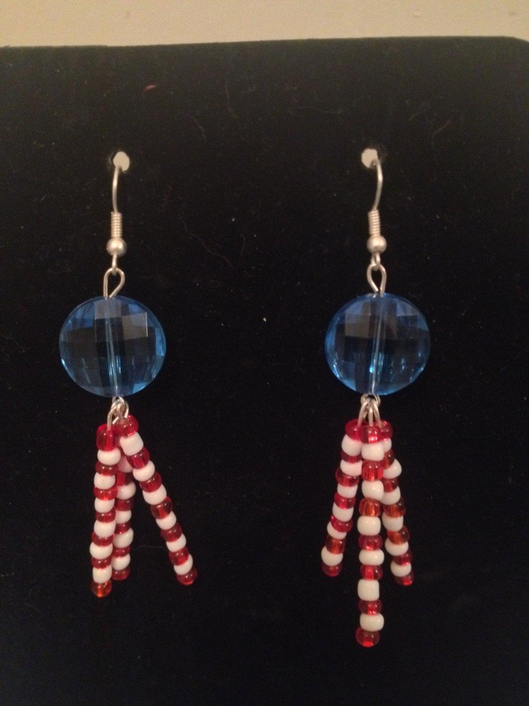 Red, White, Blue Earrings